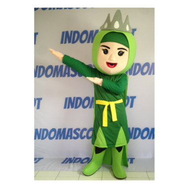 kostum badut maskot super green female