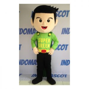kostum badut maskot super green