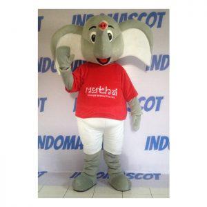 kostum badut maskot gajah mythai