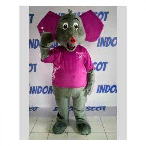 maskot gajah ungu