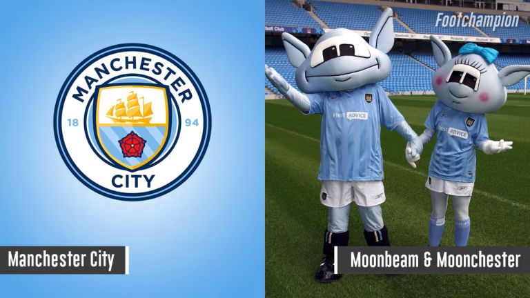 Maskot Mancehester City - Moonbeam & Moonchester