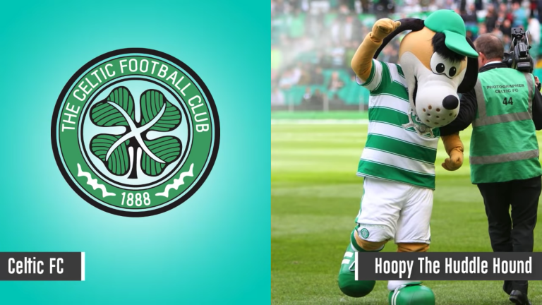 Maskot Celtic - Hoopy The Huddle Hound
