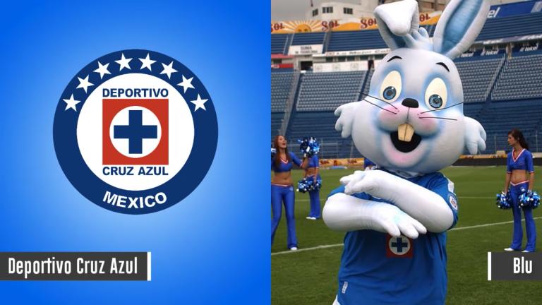 Maskot Deportivo Cruz Azul - Blu