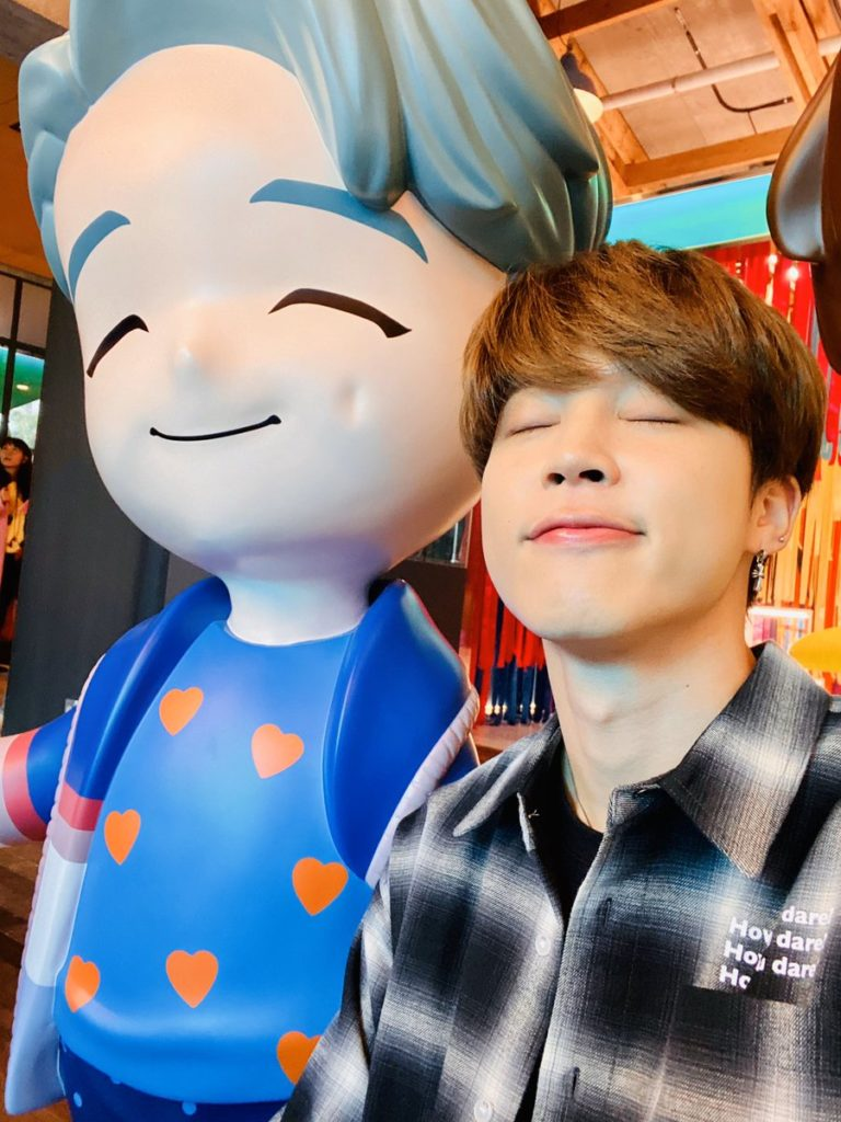 jimin with his character