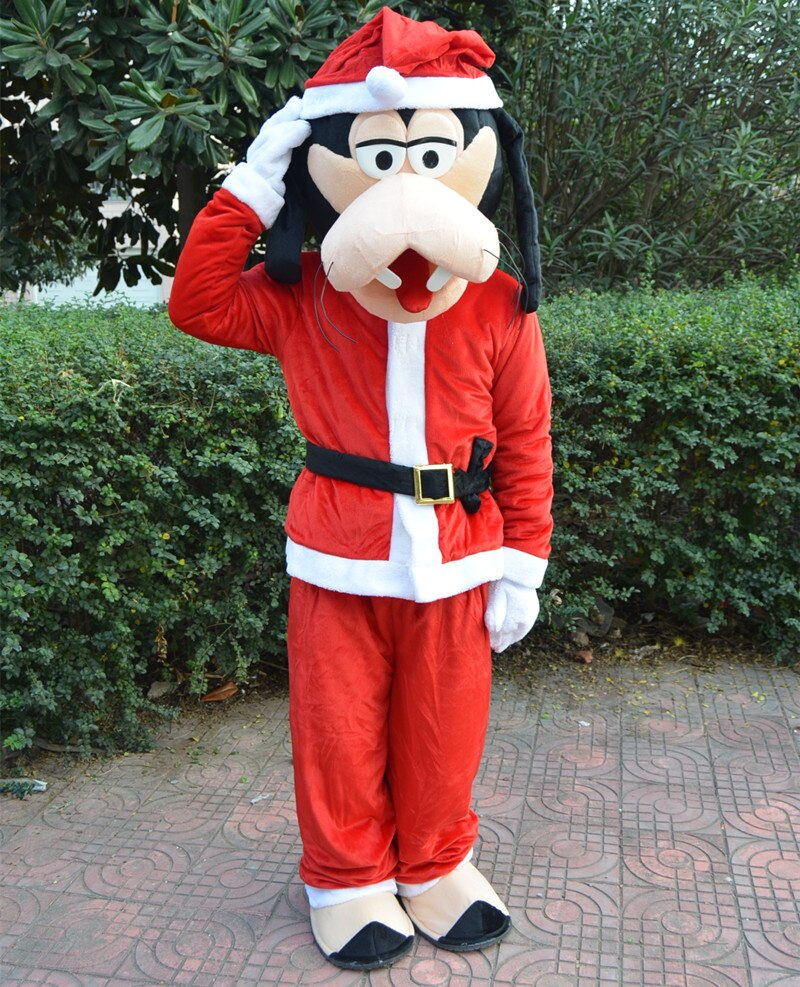 kostum goofy tema maskot natal