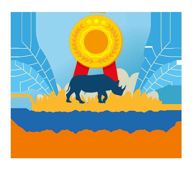 hadiah lomba desain maskot kategori maskot badak