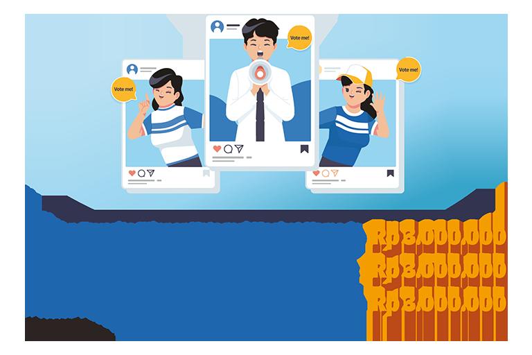 hadiah lomba desain maskot favorit pilihan netizen